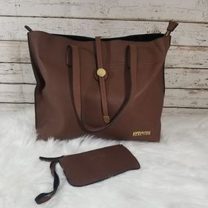 KENNETH COLE REACTION Brown Tote Bag